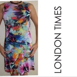 London Times Printed Summer Dress NWT Size 8